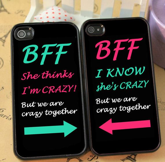 best friends forever cute couple phone case for iphone 4  4s 5  5s galaxy s3 s4 s5