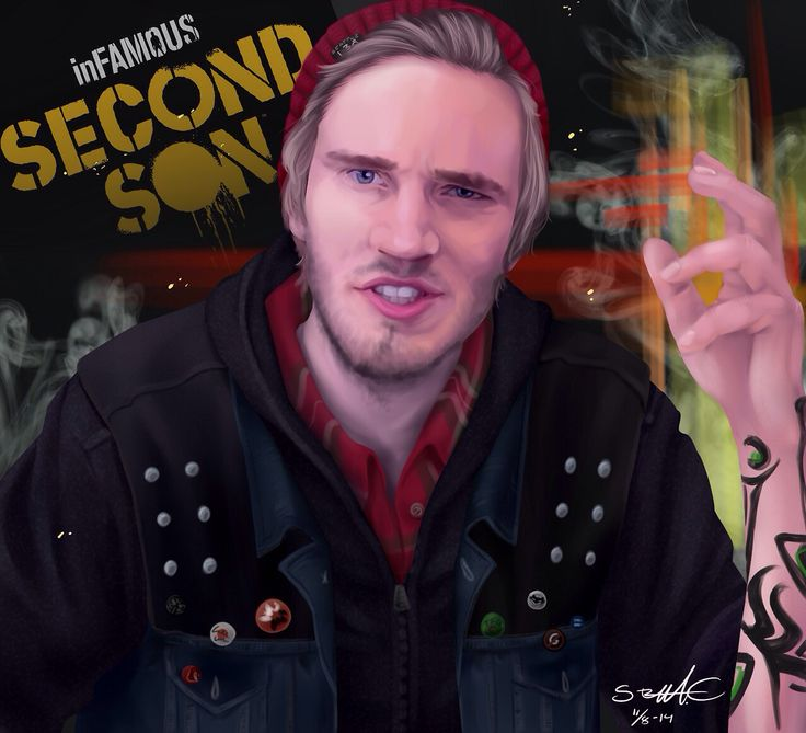 266 best pewdiepie images on pinterest cryaotic youtube and youtubers pewdiepie fan art for infamous second son this one was my favorite m4hsunfo