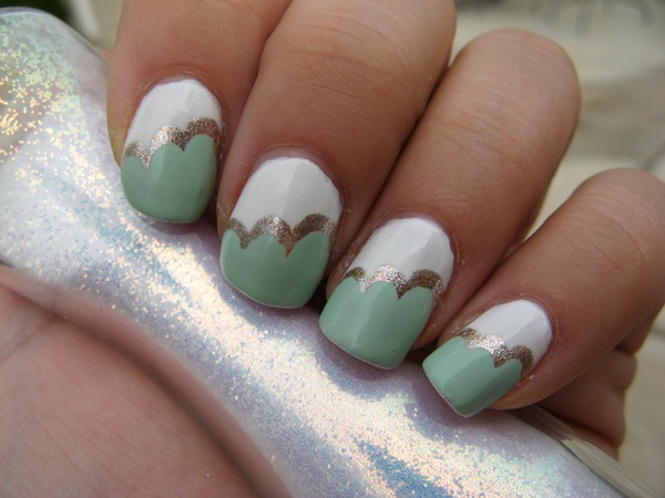 Vintage clouds on nails. | Nails - French Tip Designs | Pinterest | Cloud, Vintage and Nail nail