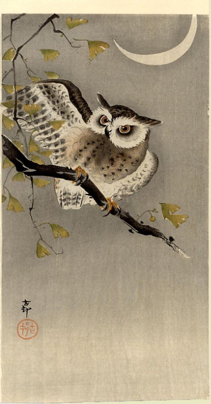 Китайские картинки для декупажа совы