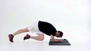 Plank s priťahovaním kolien k protiľahlému lakťu