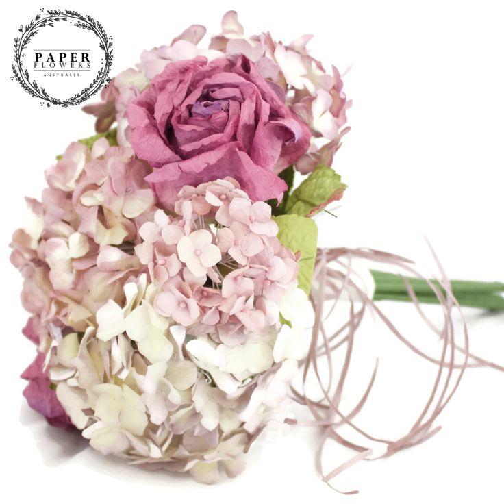 Medium Purple SAA paper Bouquet – Paper Flowers Australia