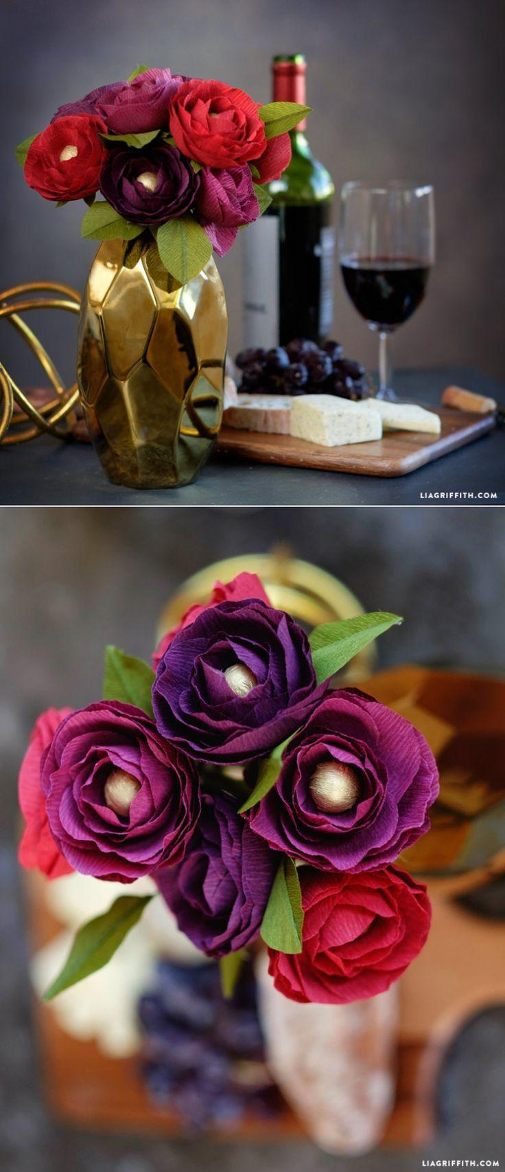 Crepe Paper Ranunculus  www.LiaGriffith.com:
