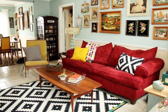 die besten 25 rote sofas ideen auf pinterest rotes sofa