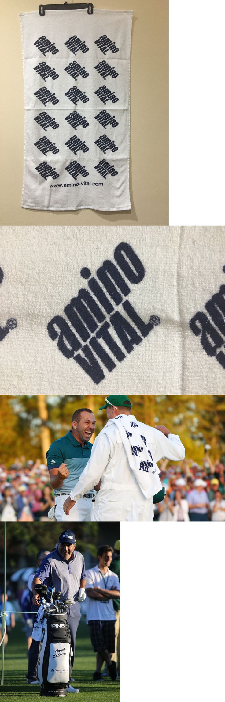 Golf Towels 18932: Brand New Amino Vital Pga Tour Issue Golf Towel 24 X42 -> BUY IT NOW ONLY: $35 on eBay!
