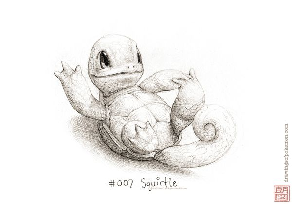 Drawings of Pokémon by Rocky Hammer, via Behance