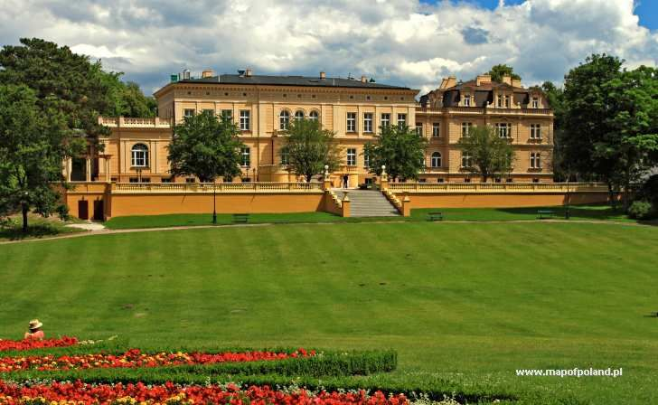 The Palace and Park, Dabrowa Chelminska, Kujawsko-Pomorskie province, Poland.