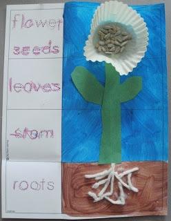Little Stars Learning: Cupcake Liner Garden Theme Craft