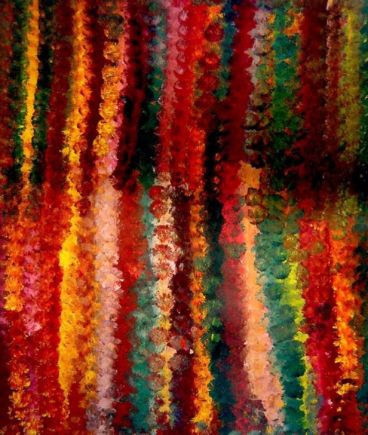 lower Dreaming, Emily Kame Kngwarreye Synthetic polymer paint on canvas, 123 x 103 cm