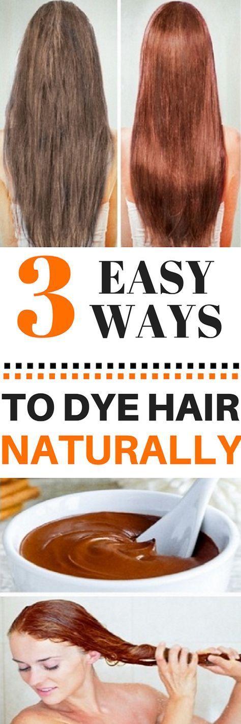 3 EASY WAYS TO DYE HAIR NATURALLY!