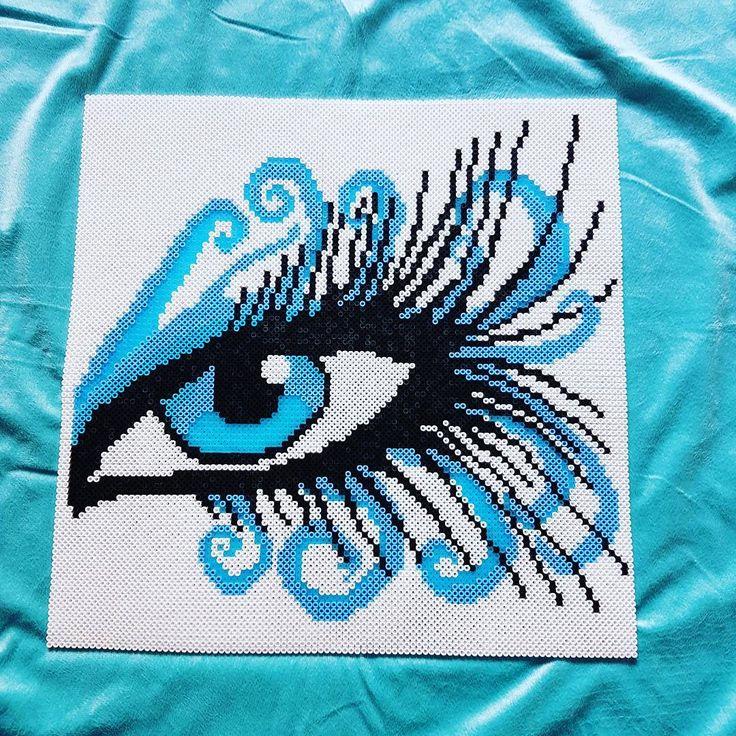 Eye perler bead art by nicolebe85 (46x46 cm)