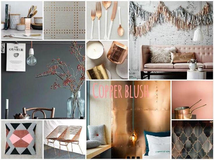 Copper Blush Interior Moodboard Created On Sampleboard