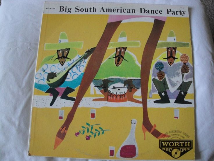 BIG SOUTH AMERICAN DANCE PARTY VINYL LP  ERNST KUGLER AND HIS DANCE ORCHESTRA EX #LatinJazz