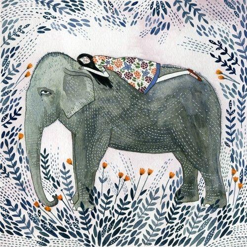 elephant print by yelena bryksenkova