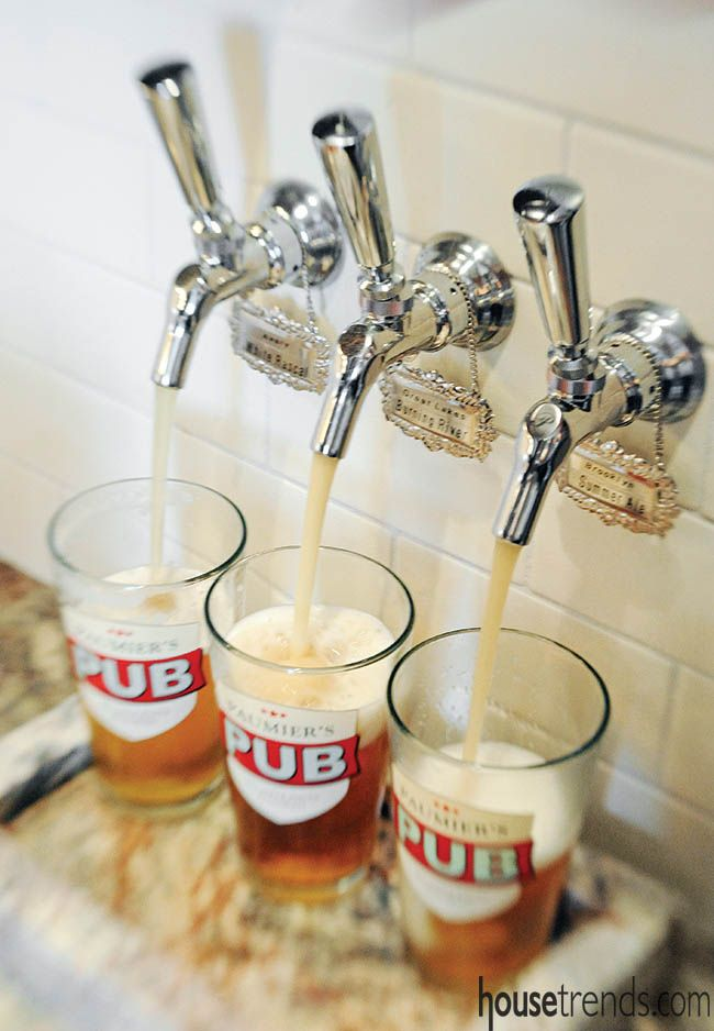 Beer tap allows for easy entertaining. #housetrends http://www.ketroncustombuilders.com