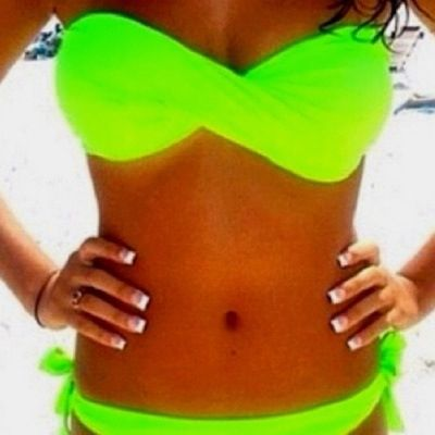 Neon Bathing Suits August 2017