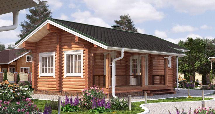 Проект деревянной бани — Баня из бревна Б-64