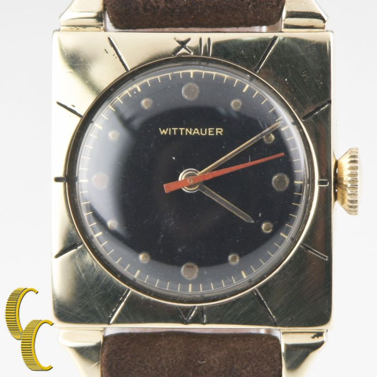 13 best vintage watches images on pinterest antique watches wittnauer vintage mens 14k yellow gold hand winding watch w brown leather band sciox Choice Image