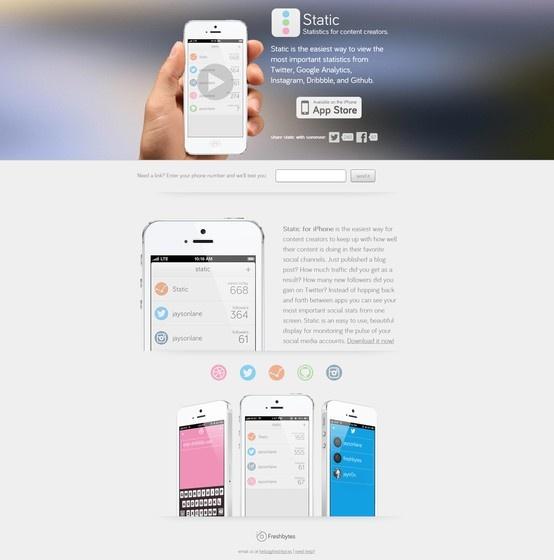 #webdesign #inspiration #Application  http://static.freshbyt.es/
