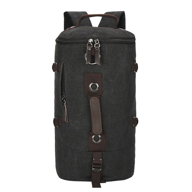Canvas Shoulder Backpack with adjustabel shoulder straps for Outdoor Travel Male and Female * Unbelievable product right here! : Hiking packs