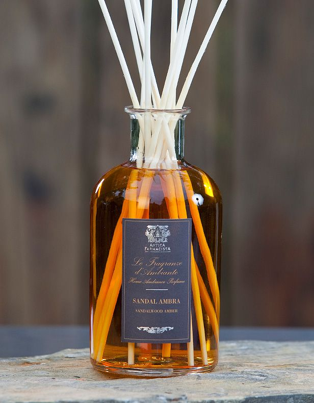 Antica Farmacista Sandalwood Amber diffuser is woodsy and masculine, $69.50