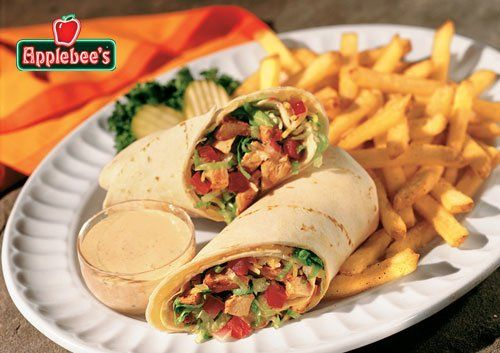 Applebees Chicken Fajita Rollup mexi ranch and fries! Ahhhh this is my favorite thing like ever