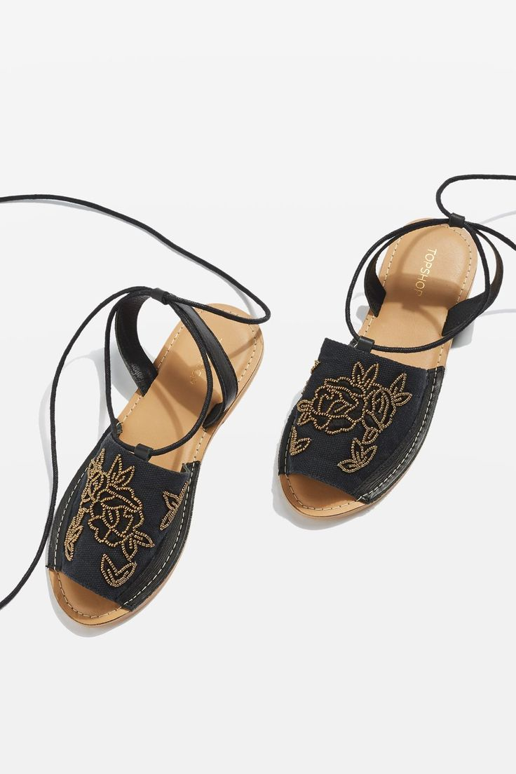 HALLE Embroidered Sandals