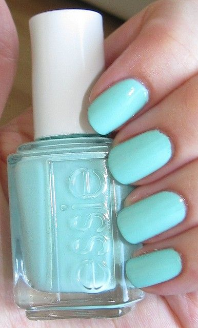 Tiffany Blue (Mint Candy Apple) by Essie, umm i NEED this - Click image to find more Hair & Beauty Pinterest pins