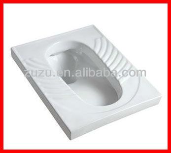 Bathroom sanitary ware ceramic squatting pan wc eastern Asian toilet bowl Y-207 $12~$14