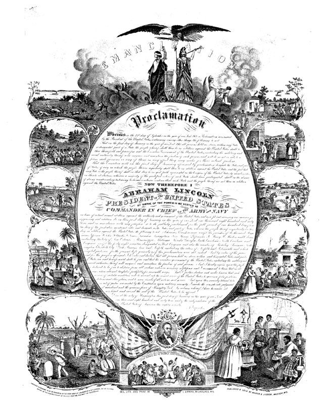 A history of the emancipation proclamation by president abraham lincoln