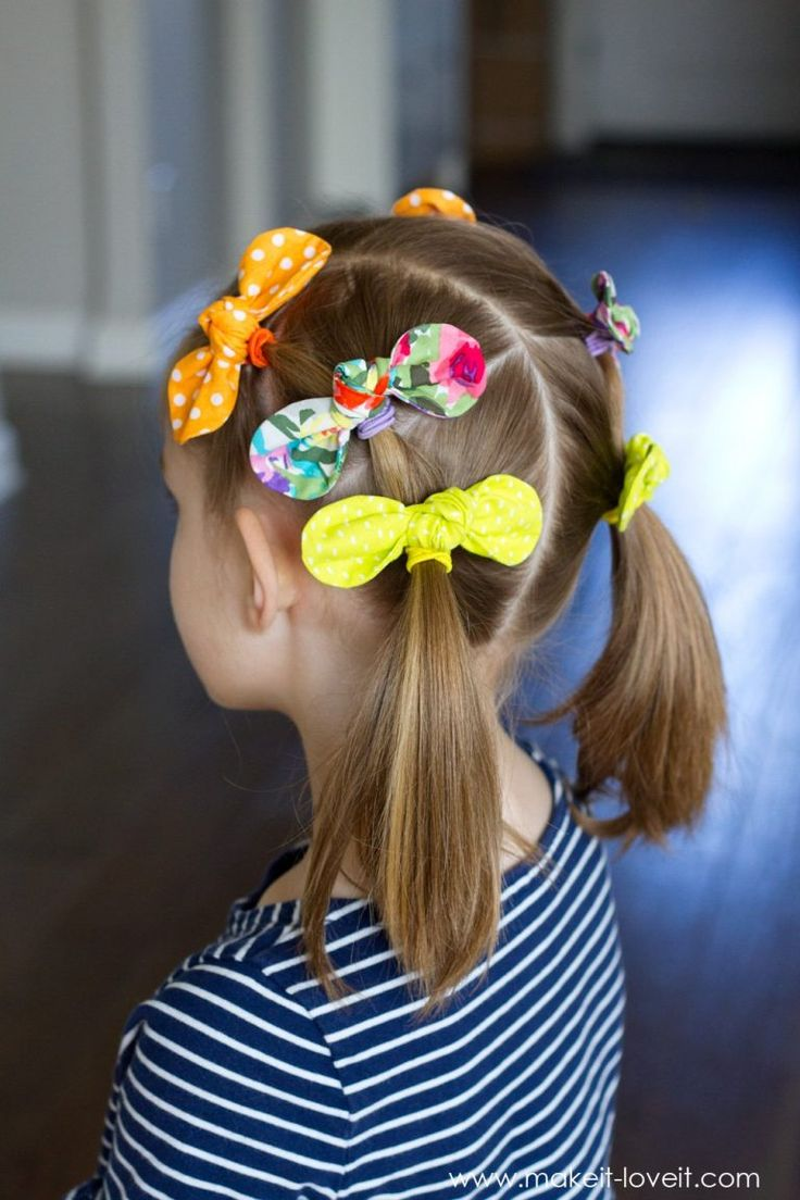 Diy fabric knot hair bows hairstyle ideas rope