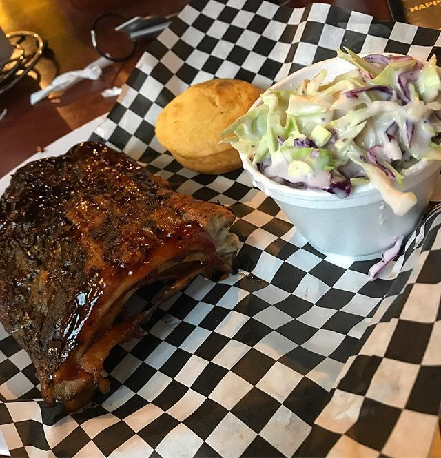 6/24/17: Bubba's Smokehouse BBQ . 1/3 Rack of Ribs, Cole Slaw and Corn Bread.  #lajolla #foodblog #foodie #bbq #socal #sandiego #foodporn #travel #tippylopez #lajollalocals #sandiegoconnection #sdlocals - posted by Food Blog  https://www.instagram.com/tippylopez_foodblog. See more post on La Jolla at http://LaJollaLocals.com