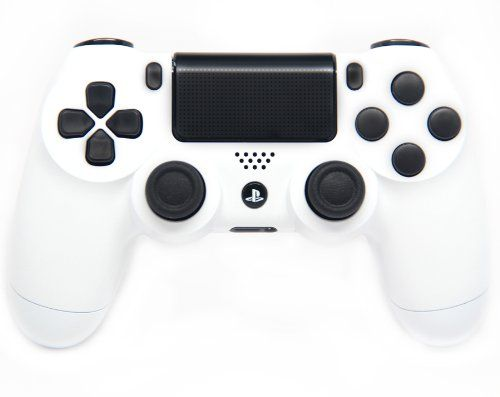 "This is our ""Glossy White"" PlayStation 4 Modded Controller. It is a perfect gift for a special gamer in your life. Order yours today at: http://moddedzone.com/ You can also visit our eBay store at: http://stores.ebay.com/moddedzone/"