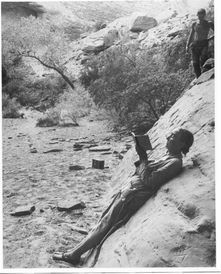 "Georgia O""Keeffe at Glen Canyon 1961"