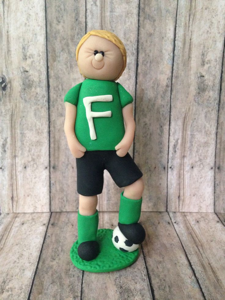 A personal favorite from my Etsy shop https://www.etsy.com/listing/232211284/dreaming-about-soccer-cake-topper