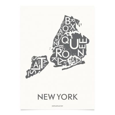 Kortkartellet New York city poster 50 x 70 cm