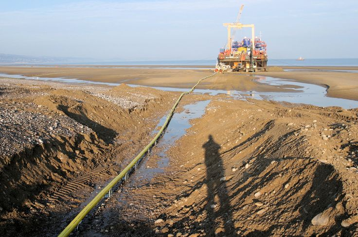 Rhyl Flats second Export Cable being installed in 2008