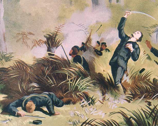 Death of Von Tempsky painting