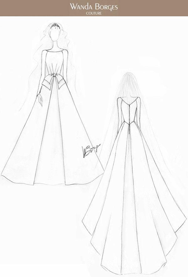 Estilistas Desenham Vestidos De Noiva Para Meghan Markle Constance Zahn Esboco De Moda Design De Moda Sketchbook E Desenhos De Vestido De Noiva