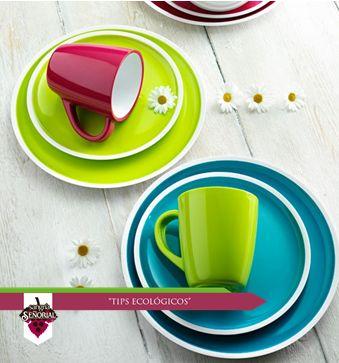 Prefiere lavar que desechar: en fiestas y días de campo prefiere utensilios lavables; para tus bebidas en el trabajo utiliza una taza de cerámica o un vaso de vidrio.