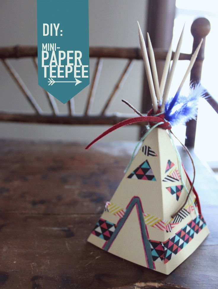 Here's your next little diy project: mini paper teepee!