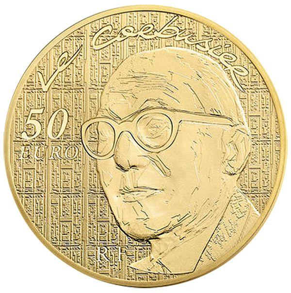 Изображение Золотые монеты Евро Франция «Ле Корбюзье»