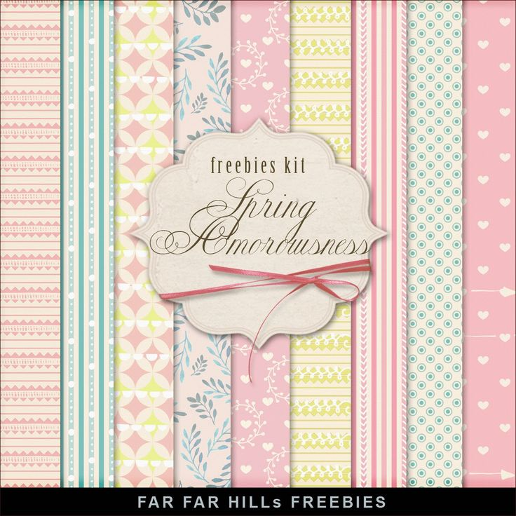 FREE Freebies Kit of  Backgrounds - Spring Amorousness by Far Far Hill