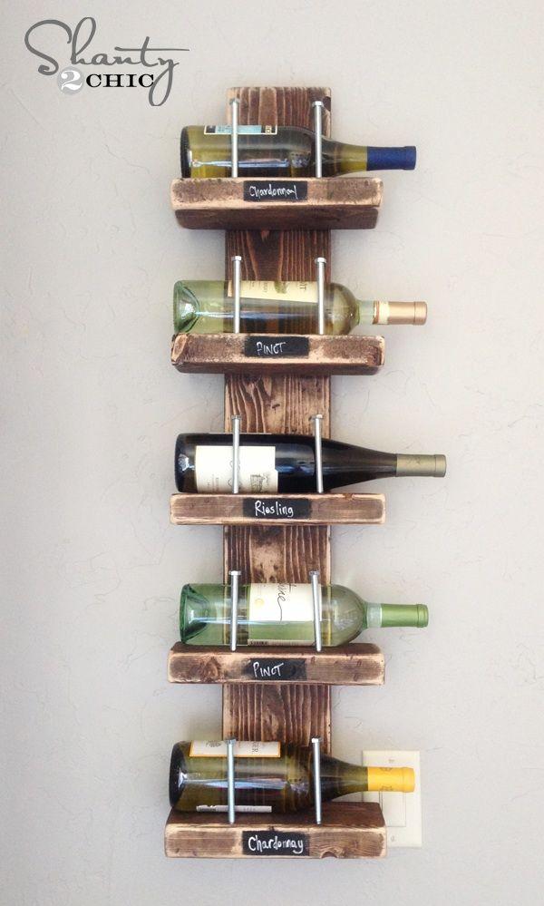 $15 DIY for Wet Bar. LOVE! http://www.shanty-2-chic.com/2013/03/wine-rack.html