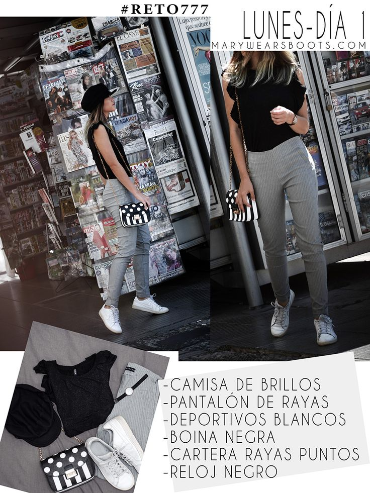 7 OUTFITS PARA TODA LA SEMANA CON 7 PRENDAS DE ROPA Capri Pants, Casual Outfits, Street Style, How To Wear, Clothes, Mary, Ideas, Fashion, Beret