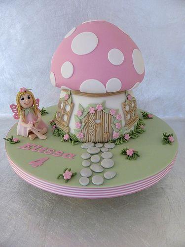 Toadstool Cake https://www.facebook.com/CakeDesignsByDeborah