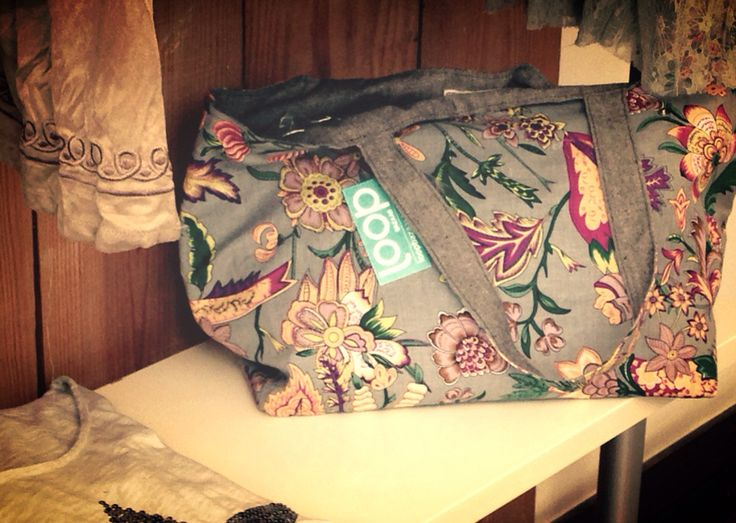 Grey Boheme canvas Bag