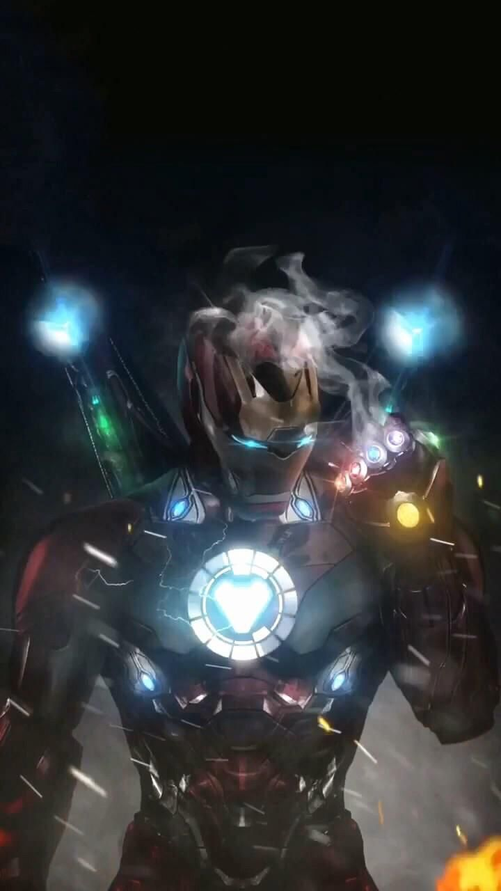 Iron Man With Infinity Gauntlet Background Vingadores Marvel