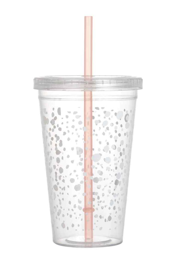 Plastic cup with a straw | H&M