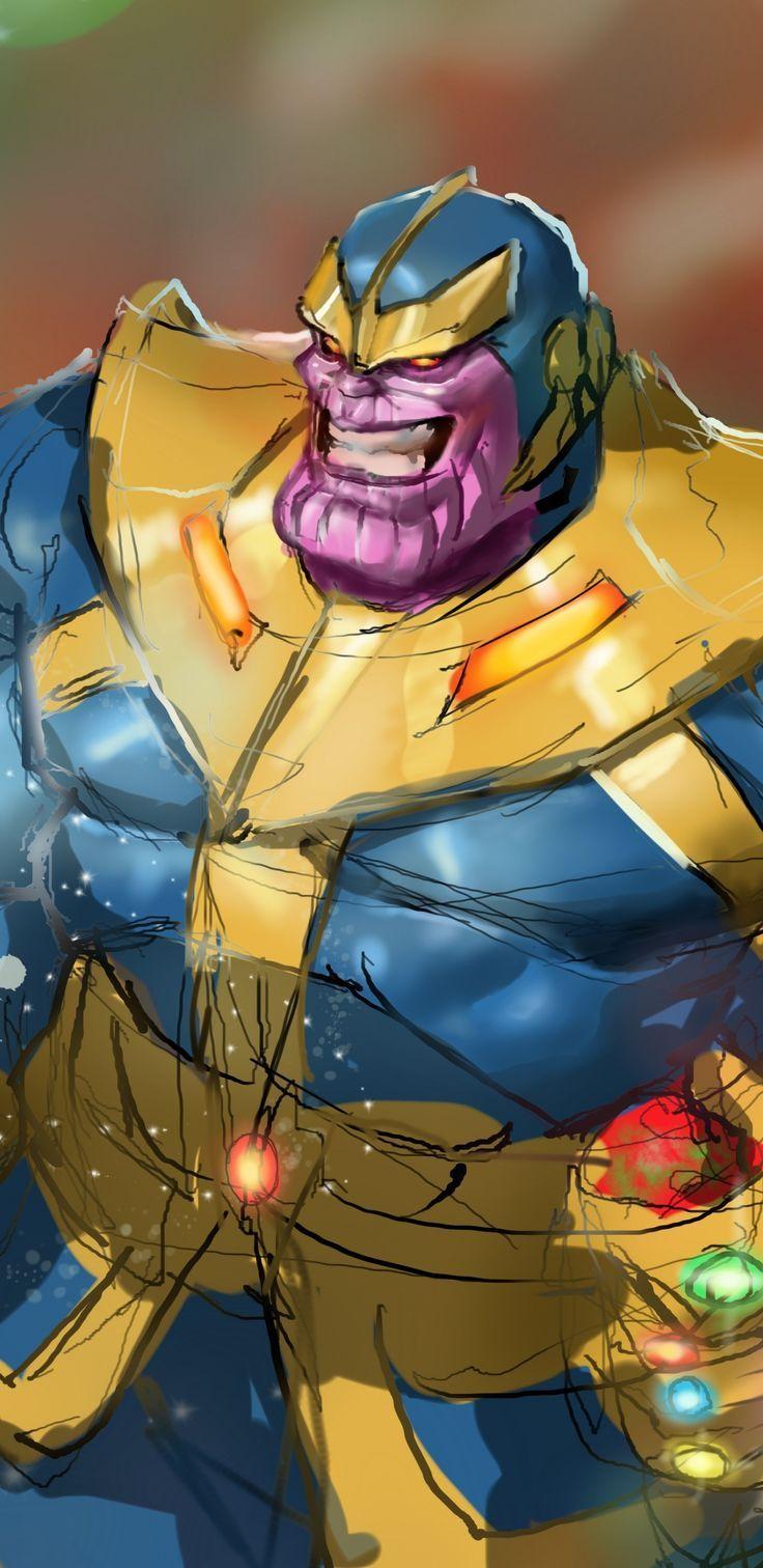 Wonderful Wallpaper Thanos Super Villain Artwork 14402960 Wallpaper Superhero Wallpaper Super Villains Artwork